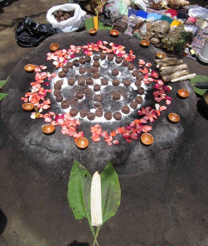 Maya Day Ceremony altar
