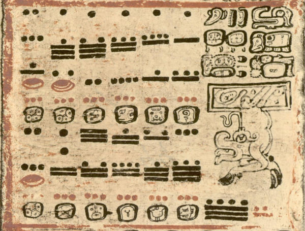 Maya Number System - Dresden Codex - 44B