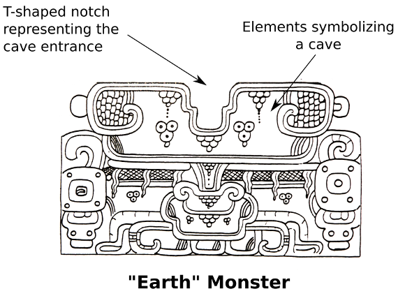 Maya Earth Monster