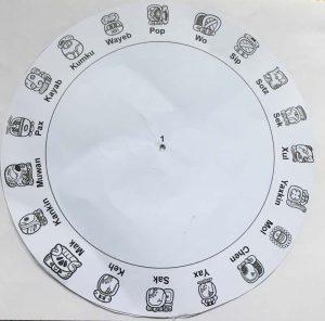 Maya Calendar KS2 template - wheel 1 (Haab)